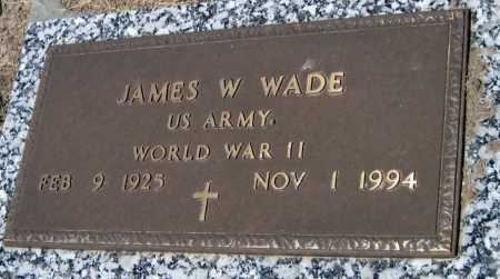 WADE, JAMES W   (VETERAN WWII) - Cherokee County, Kansas | JAMES W   (VETERAN WWII) WADE - Kansas Gravestone Photos