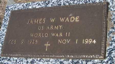 WADE, JAMES W   (VETERAN WWII) - Cherokee County, Kansas | JAMES W   (VETERAN WWII) WADE - Kansas Gravestone Photos