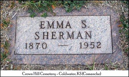 SHERMAN, EMMA SOPHIA - Comanche County, Kansas | EMMA SOPHIA SHERMAN - Kansas Gravestone Photos