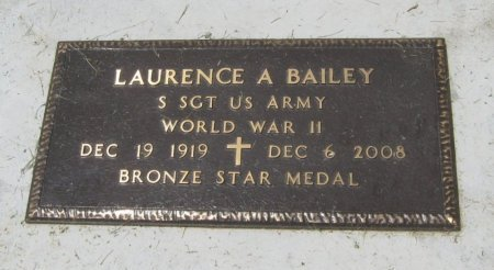 BAILEY, LAURENCE A (VETERAN WWII) - Cowley County, Kansas | LAURENCE A (VETERAN WWII) BAILEY - Kansas Gravestone Photos