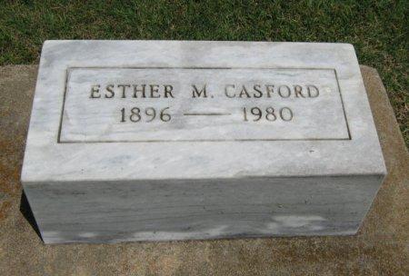CASFORD, ESTHER M - Cowley County, Kansas | ESTHER M CASFORD - Kansas Gravestone Photos