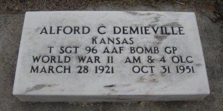 DEMIEVILLE, ALFORD C (VETERAN WWII) - Cowley County, Kansas   ALFORD C (VETERAN WWII) DEMIEVILLE - Kansas Gravestone Photos