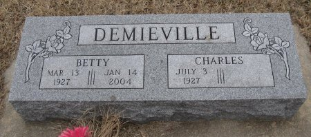 DEMIEVILLE, BETTY - Cowley County, Kansas | BETTY DEMIEVILLE - Kansas Gravestone Photos