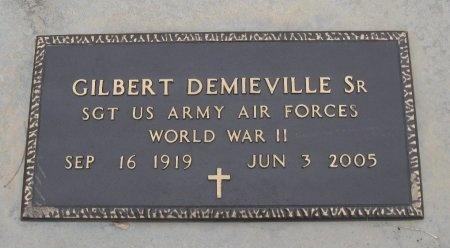DEMIEVILLE , GILBERT IVAN, SR   (VETERAN WWII) - Cowley County, Kansas | GILBERT IVAN, SR   (VETERAN WWII) DEMIEVILLE  - Kansas Gravestone Photos