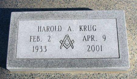 KRUG, HAROLD ARTHUR - Cowley County, Kansas   HAROLD ARTHUR KRUG - Kansas Gravestone Photos