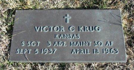 KRUG  , VICTOR C (VETRAN) - Cowley County, Kansas | VICTOR C (VETRAN) KRUG   - Kansas Gravestone Photos