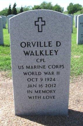 WALKLEY, ORVILLE DALE (VETERAN WWII) - Cowley County, Kansas   ORVILLE DALE (VETERAN WWII) WALKLEY - Kansas Gravestone Photos