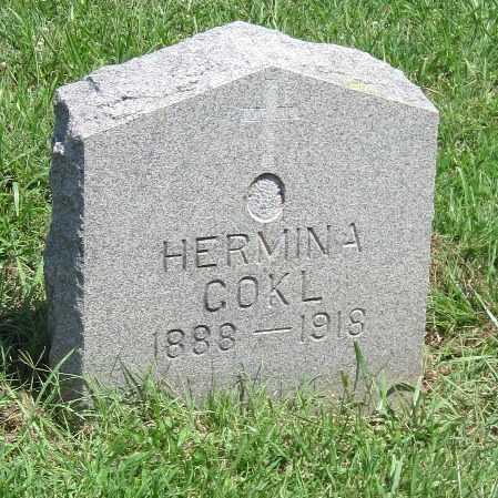 COKL, HERMINA - Crawford County, Kansas | HERMINA COKL - Kansas Gravestone Photos