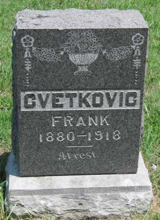CVETKOVIC, FRANK - Crawford County, Kansas | FRANK CVETKOVIC - Kansas Gravestone Photos