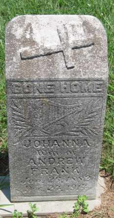FRANK, JOHANNA - Crawford County, Kansas | JOHANNA FRANK - Kansas Gravestone Photos