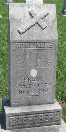 GRIEFFBERG, FRANK - Crawford County, Kansas | FRANK GRIEFFBERG - Kansas Gravestone Photos