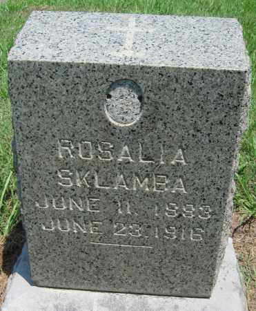 SKLAMBA, ROSALIA - Crawford County, Kansas | ROSALIA SKLAMBA - Kansas Gravestone Photos