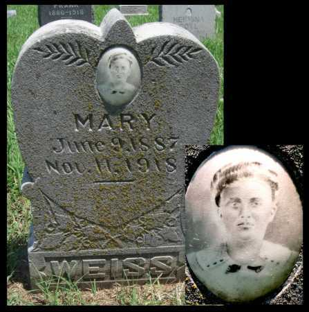 WEISS, MARY - Crawford County, Kansas | MARY WEISS - Kansas Gravestone Photos