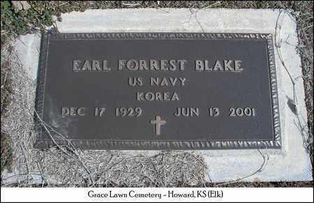 BLAKE, EARL FORREST   (VETERAN KOR) - Elk County, Kansas | EARL FORREST   (VETERAN KOR) BLAKE - Kansas Gravestone Photos
