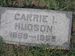 HUDSON, CARRIE I. - Ellsworth County, Kansas   CARRIE I. HUDSON - Kansas Gravestone Photos