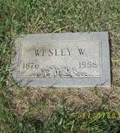 HUGGINS, WESLEY WHITFIELD - Ellsworth County, Kansas | WESLEY WHITFIELD HUGGINS - Kansas Gravestone Photos