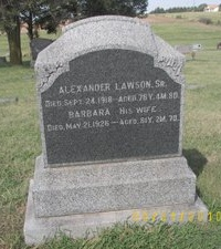 LAWSON, ALEXANDER, SR - Ellsworth County, Kansas | ALEXANDER, SR LAWSON - Kansas Gravestone Photos