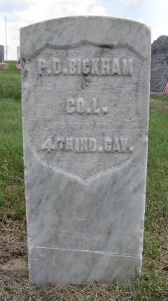 BICKHAM, PEARSON DAVIS (VETERAN UNION) - Ford County, Kansas | PEARSON DAVIS (VETERAN UNION) BICKHAM - Kansas Gravestone Photos
