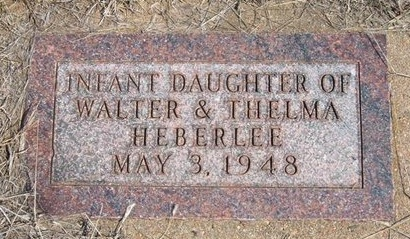 HEBERLEE, INFANT DAUGHTER - Ford County, Kansas | INFANT DAUGHTER HEBERLEE - Kansas Gravestone Photos