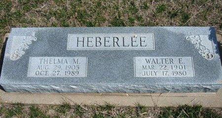 HEBERLEE, WALTER E - Ford County, Kansas | WALTER E HEBERLEE - Kansas Gravestone Photos