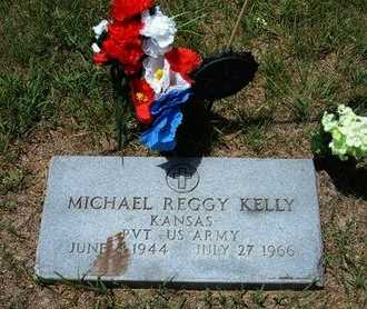 KELLY, MICHAEL REGGY   (VETERAN) - Ford County, Kansas | MICHAEL REGGY   (VETERAN) KELLY - Kansas Gravestone Photos
