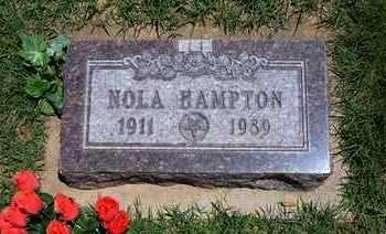HAMPTON, NOLA ESTHER - Grant County, Kansas | NOLA ESTHER HAMPTON - Kansas Gravestone Photos