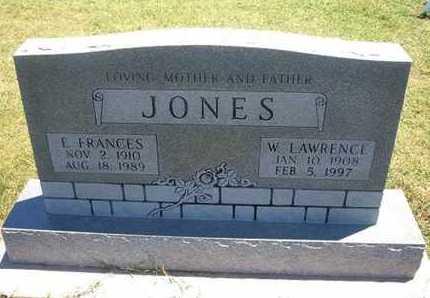JONES, E.  FRANCES - Grant County, Kansas | E.  FRANCES JONES - Kansas Gravestone Photos