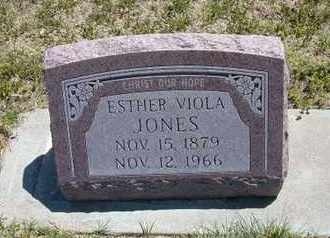 DOLL JONES, ESTHER VIOLA - Grant County, Kansas | ESTHER VIOLA DOLL JONES - Kansas Gravestone Photos