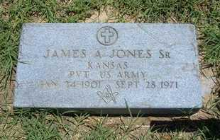 JONES, JAMES A. SR   (VETERAN) - Grant County, Kansas | JAMES A. SR   (VETERAN) JONES - Kansas Gravestone Photos