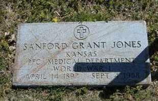 JONES, SANFORD GRANT   (VETERAN WWII) - Grant County, Kansas   SANFORD GRANT   (VETERAN WWII) JONES - Kansas Gravestone Photos