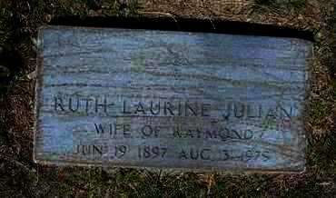 JULIAN, RUTH LAURINE - Grant County, Kansas | RUTH LAURINE JULIAN - Kansas Gravestone Photos