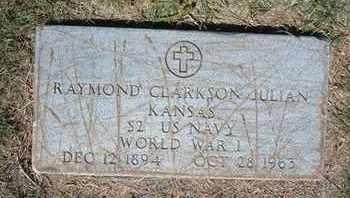 JULIAN, RAYMOND CLARKSON  (VETERAN WWI) - Grant County, Kansas | RAYMOND CLARKSON  (VETERAN WWI) JULIAN - Kansas Gravestone Photos