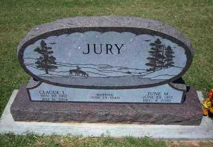 JURY, JUNE M - Grant County, Kansas | JUNE M JURY - Kansas Gravestone Photos