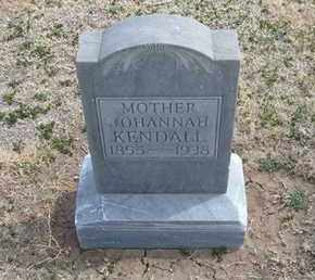 RURING KENDALL, JOHANNAH - Grant County, Kansas   JOHANNAH RURING KENDALL - Kansas Gravestone Photos