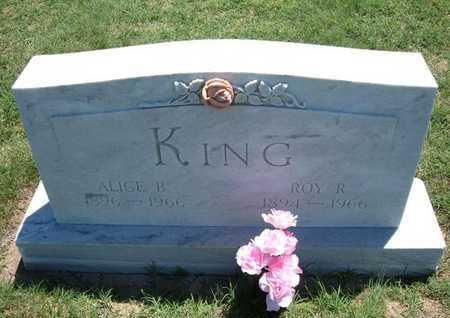 KING, ALICE B - Grant County, Kansas   ALICE B KING - Kansas Gravestone Photos
