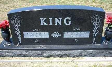 KING, BERNICE ELIZABETH - Grant County, Kansas   BERNICE ELIZABETH KING - Kansas Gravestone Photos