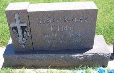 KING, JAMES NOLAN - Grant County, Kansas | JAMES NOLAN KING - Kansas Gravestone Photos