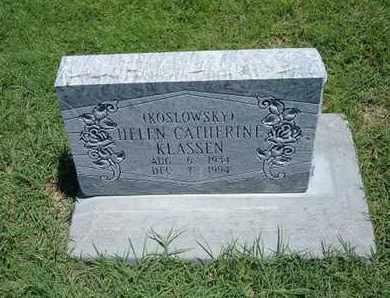 KOSLOWSKY KLASSEN, HELEN CATHERINE - Grant County, Kansas | HELEN CATHERINE KOSLOWSKY KLASSEN - Kansas Gravestone Photos
