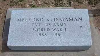 KLINGAMAN, MELFORD  (VETERAN WWI) - Grant County, Kansas | MELFORD  (VETERAN WWI) KLINGAMAN - Kansas Gravestone Photos