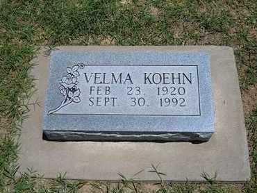 KOEHN, VELMA - Grant County, Kansas | VELMA KOEHN - Kansas Gravestone Photos