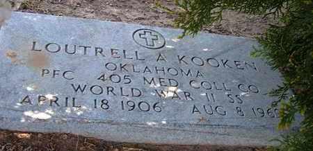 KOOKEN, LOUTRELL A   (VETERAN WWII) - Grant County, Kansas   LOUTRELL A   (VETERAN WWII) KOOKEN - Kansas Gravestone Photos