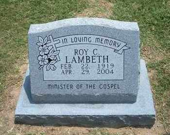 LAMBETH, ROY C - Grant County, Kansas | ROY C LAMBETH - Kansas Gravestone Photos