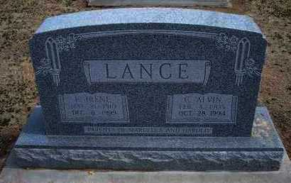 PATTERSON LANCE, F  IRENE - Grant County, Kansas | F  IRENE PATTERSON LANCE - Kansas Gravestone Photos