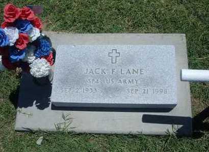 LANE, JACK F   (VETERAN) - Grant County, Kansas   JACK F   (VETERAN) LANE - Kansas Gravestone Photos