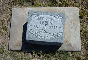 LEWIS, JOHN WAYNE - Grant County, Kansas | JOHN WAYNE LEWIS - Kansas Gravestone Photos