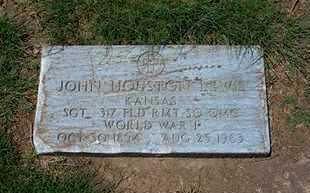 LEWIS, JOHN HOUSTON  (VETERAN WWI) - Grant County, Kansas | JOHN HOUSTON  (VETERAN WWI) LEWIS - Kansas Gravestone Photos