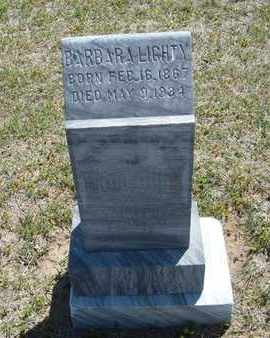 LIGHTY, BARBARA - Grant County, Kansas | BARBARA LIGHTY - Kansas Gravestone Photos