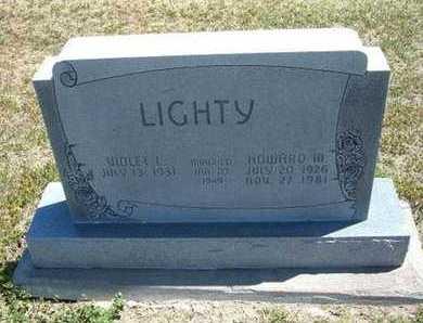 LIGHTY, HOWARD MELVIN - Grant County, Kansas | HOWARD MELVIN LIGHTY - Kansas Gravestone Photos