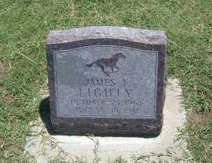LIGHTY, JAMES FRANKLIN - Grant County, Kansas | JAMES FRANKLIN LIGHTY - Kansas Gravestone Photos