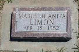 LIMON, MARIE JUANITA - Grant County, Kansas   MARIE JUANITA LIMON - Kansas Gravestone Photos